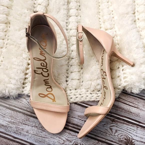8f69acc0b1c7 Sam Edelman Classic Nude Patti Ankle Strap Heels. M 5a830c4084b5ceed3752e79e